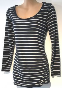 DOROTHY PERKINS NAVY STRIPED LONG SLEEVE CASUAL JERSEY TOP SIZE UK 14